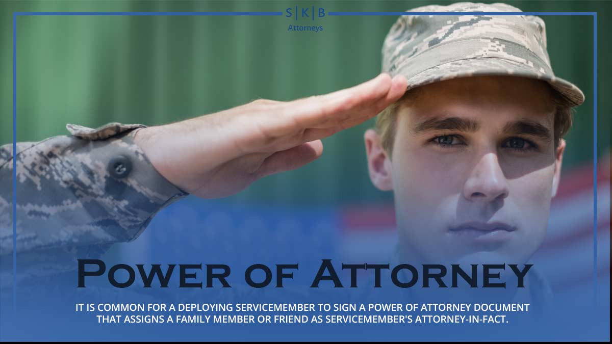 Power of Attorney for Members of the Armed Services
